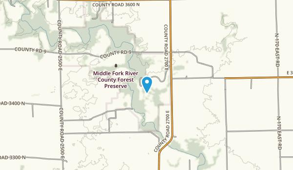 Middle Fork Forest Preserve Map