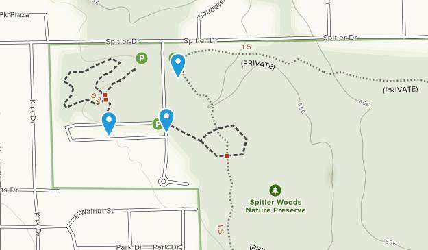 Spitler Woods Nature Preserve Map