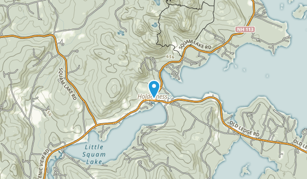 Squam Lakes Natural Science Center Map