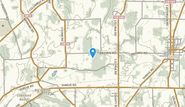 Brown's Lake Bog Preserve Map