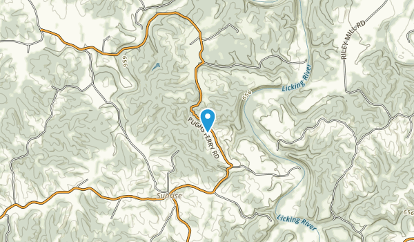 Quiet Trails State Nature Preserve Map