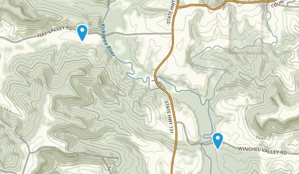 Kickapoo Valley Reserve Map