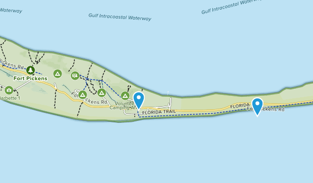 Fort Pickens National Park Map