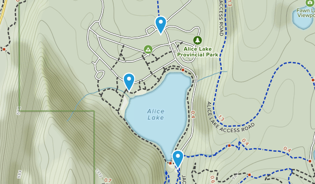 Alice Lake Provincial Park Map