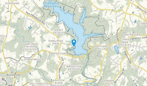 Triadelphia Reservoir Map
