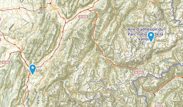 Parc National de la Vanoise Map