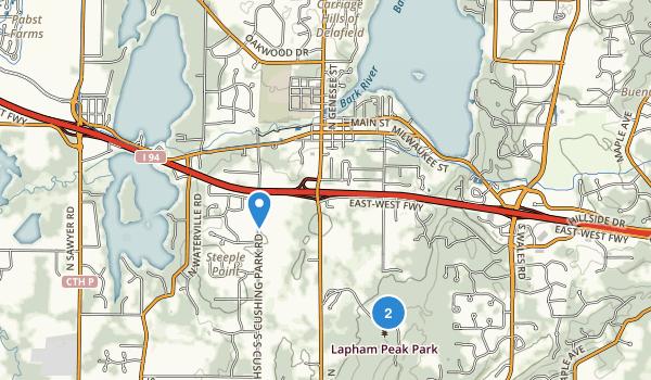 Kettle Moraine State Forest Lapham Peak Unit Map