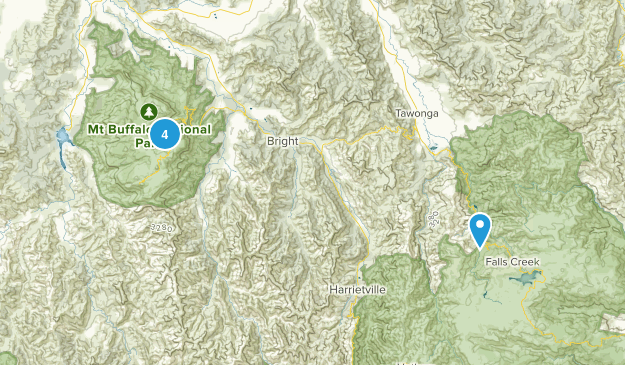 Mt Buffalo National Park Map