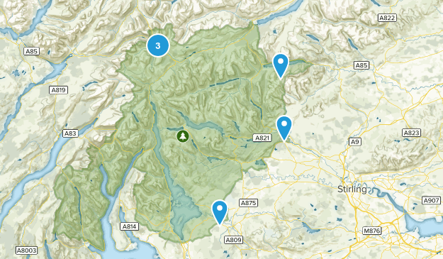 Loch Lomond and The Trossachs National Park Map