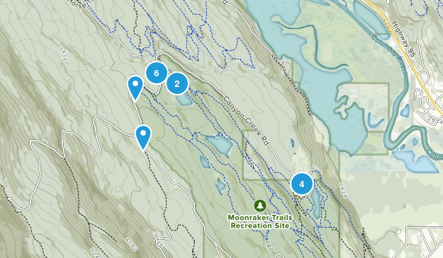 Moonraker Trails Recreation Site Map