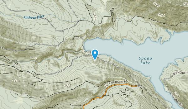 Jackson Hydroelectric Project, Spada Lake  Map