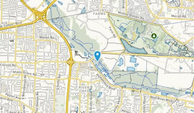 Lucius Burch Natural Area Map
