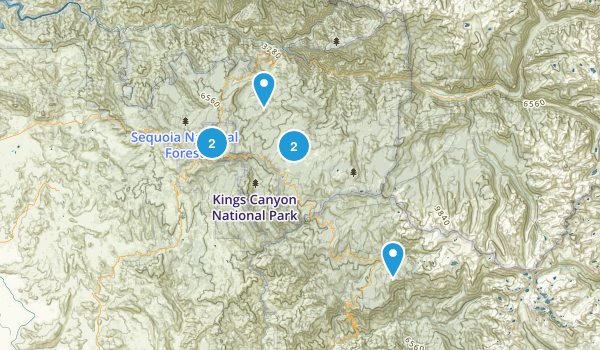 Giant Sequoia National Monument Map