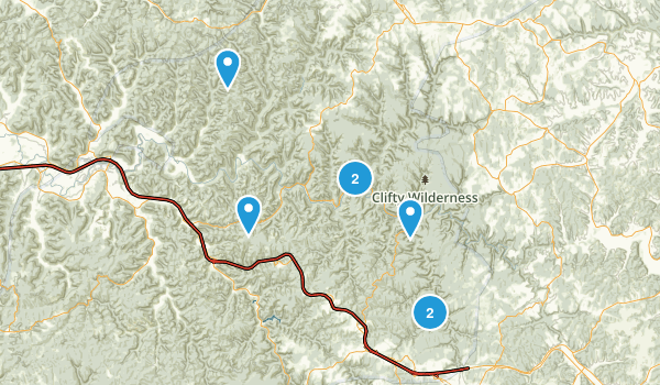 Best Trails In Red River Gorge Geological AreaClifty Wilderness - The red river map us