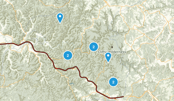 Red River Gorge Geological Area/Clifty Wilderness Area Map