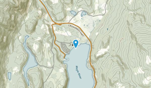 Moyie Lake Provincial Park Map