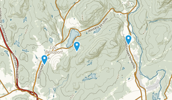 Lac Beauport Map