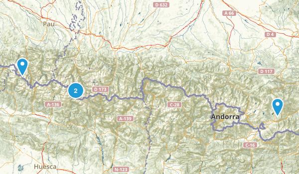 Parc national des pyrénées Map