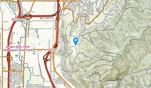 City Creek Canyon Map