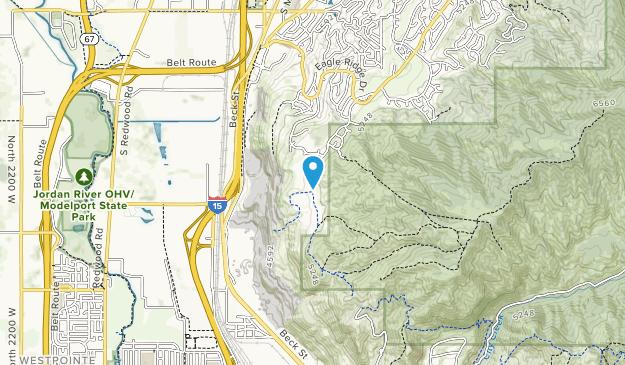 City Creek Canyon Map