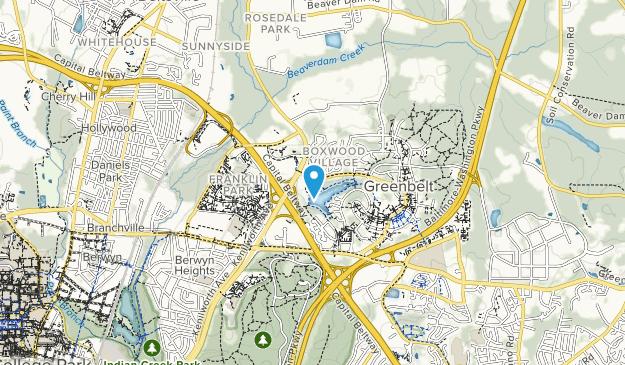 Greenbelt Lake Park Map