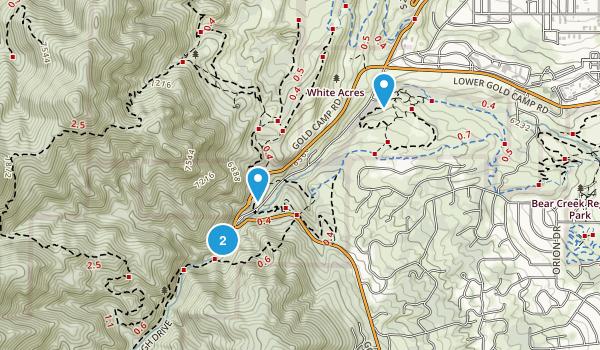 Bear Creek Cañon Park Map