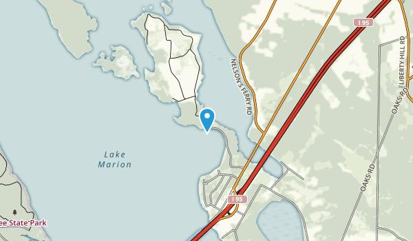 Santee National Wildlife Refuge  Map