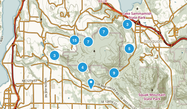 Cougar Mountain Regional Wildland Park Map