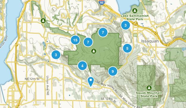 Cougar Mountain Regional Wildland Park Map