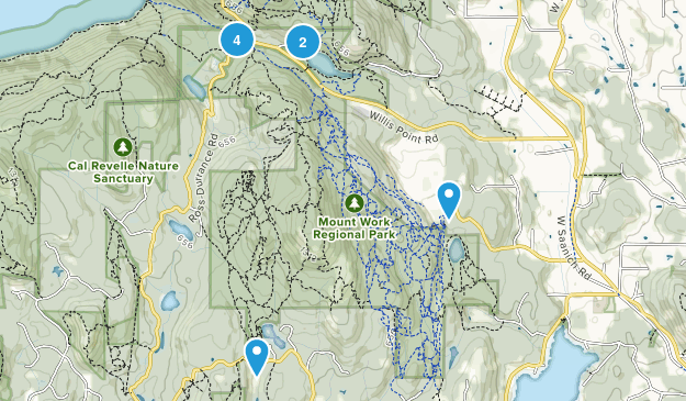 Mount Work Regional Park Map