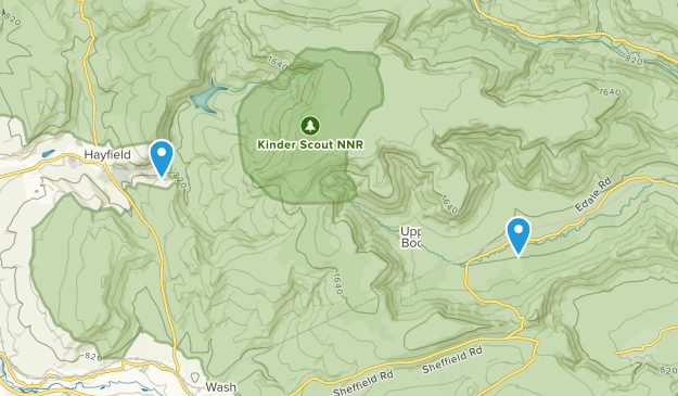 Kinder Scout National Nature Reserve Map