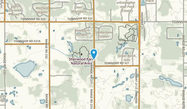 Sherwood Park Natural Area Map