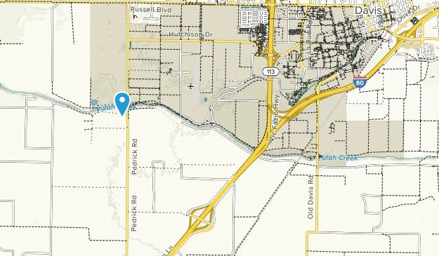 Putah Creek Riparian Reserve Map