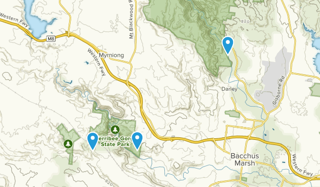 Werribee Gorge State Park Map