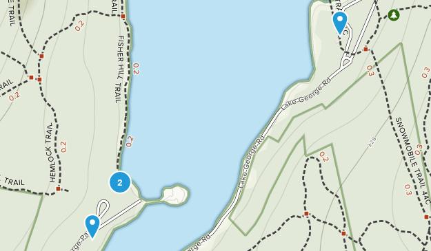 Lake George Regional Park Map
