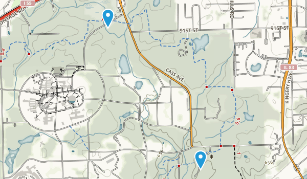 Waterfall Glen Forest Preserve Map