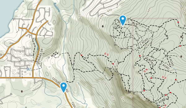 Mount Tzuhalem Ecological Reserve Map