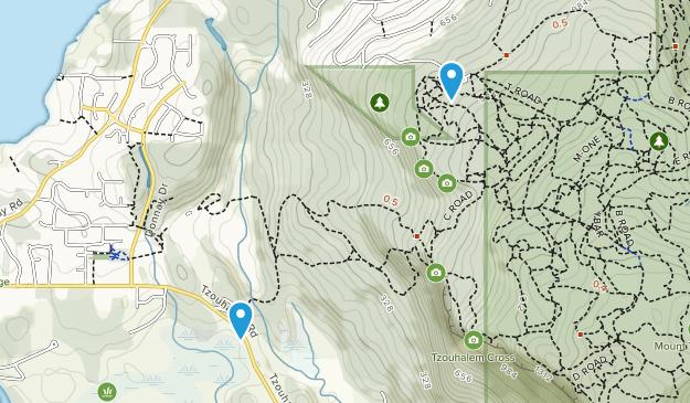 Mount Tzuhalem Ecological Reserve Map