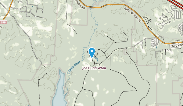 Joe Budd Wildlife Management Area Map