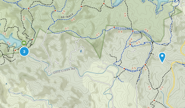 Gold Creek Reservoir Map
