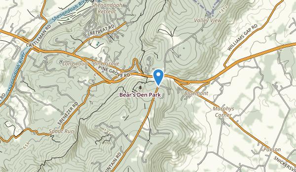 Bear's Den Park Map