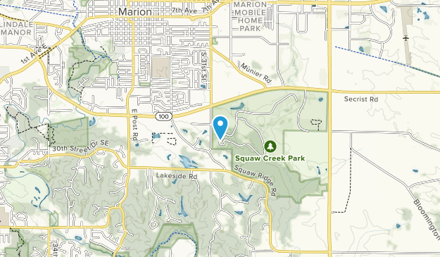 Squaw Creek Park Map