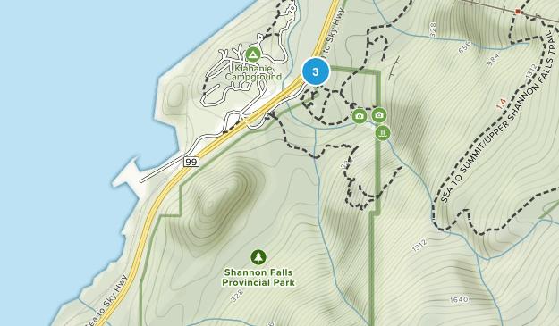 Shannon Falls Provincial Park Map