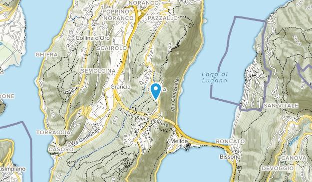 Monte San Salvatore Map