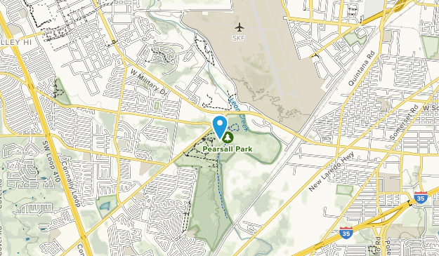 Pearsall Park Map