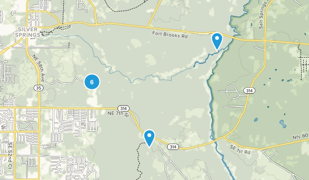 Silver Springs State Park Map