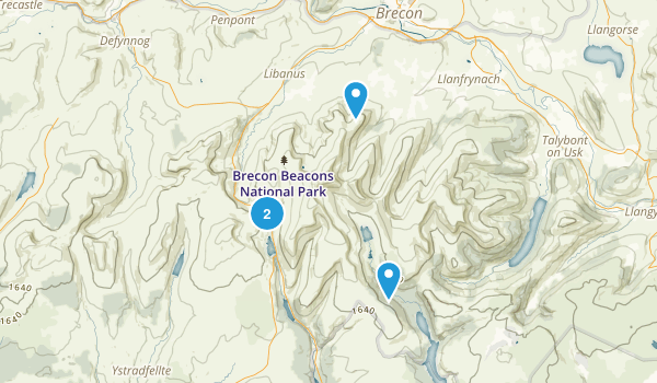 Brecon Beacons National Park Map