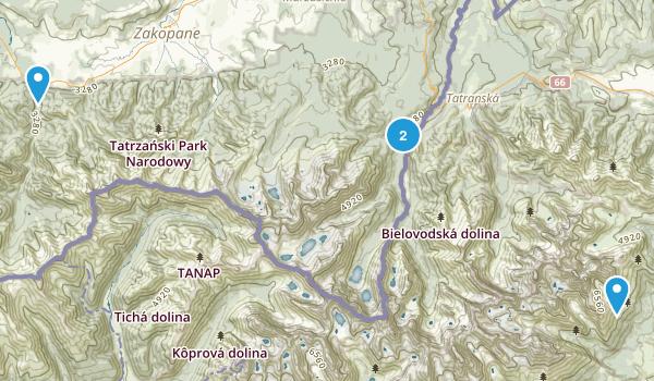 Tatrzanski Park Narodowy (Tatra National Park) Map