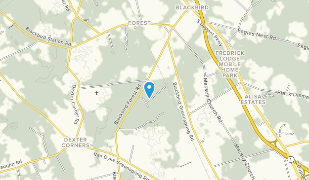 Blackbird State Forest Map