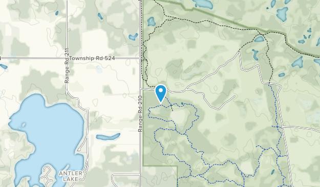 Cooking Lake/Blackfoot Provincial Recreation Area Map